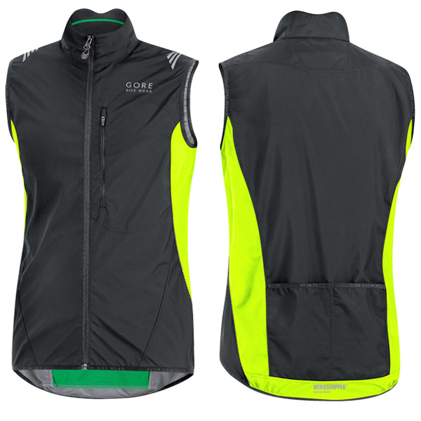 Gore Element Windstopper Active Shell Gilet Black Neon