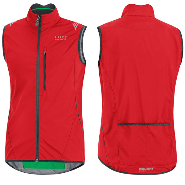 Gore Element Windstopper Active Shell Gilet Red