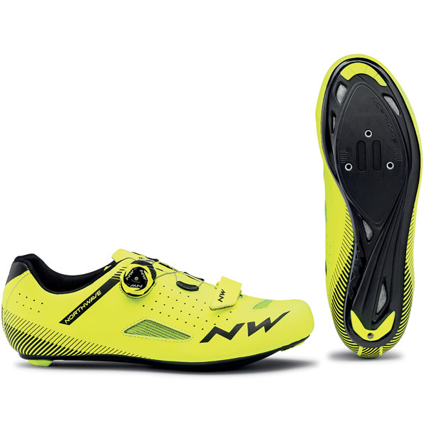 NorthWave Core Plus Road Shoe Yellow Fluo