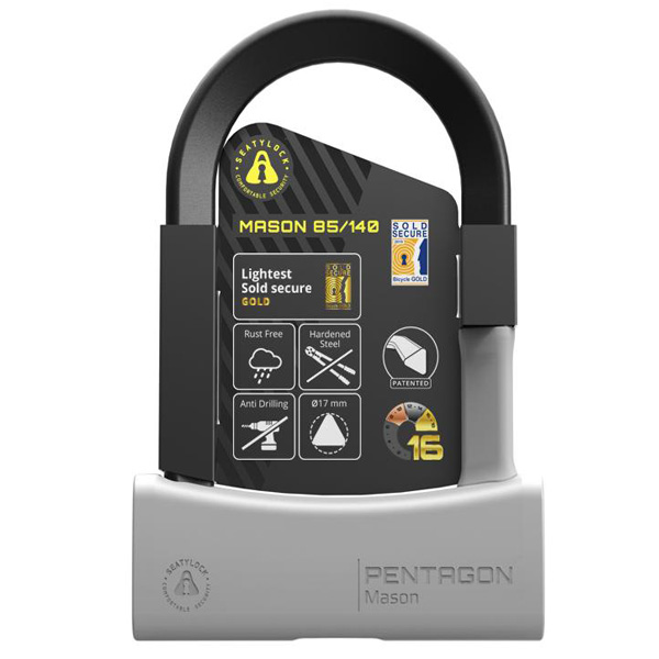 Seatylock Mason U Lock 140mm Gray
