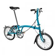 Brompton Bike S3LU Model Lagoon Blue