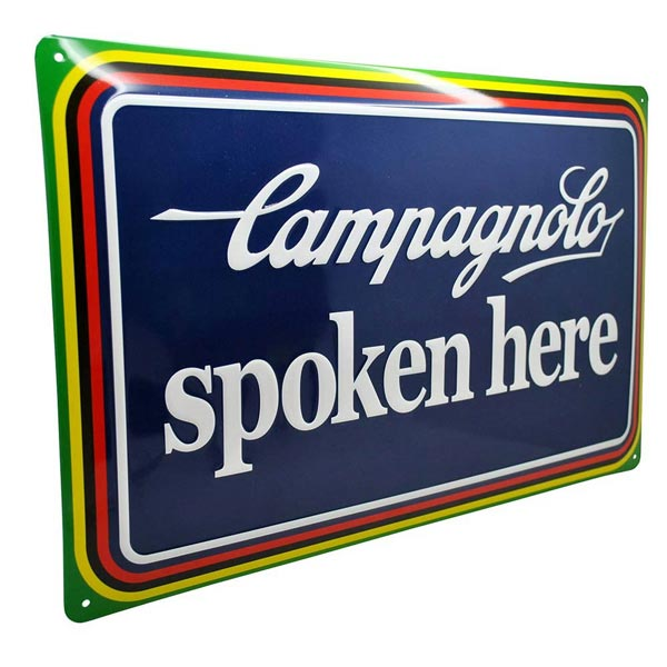 Campagnolo Spoken Here Tin Plate Side