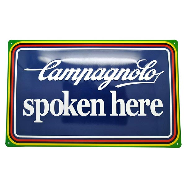 Campagnolo Spoken Here Tin Plate Side Flat