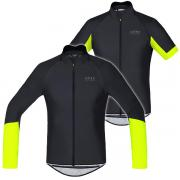 Gore Bike Wear Power Windstopper Softshell L/S Jersey Black Neon