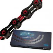 KMC X11SL DLC Black/Red 11 Speed Chain