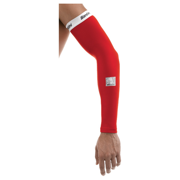 Santini Totem Arm Warmers Red