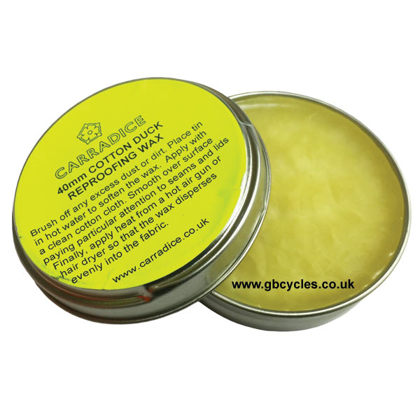 Carradice 40mm Cotton Duck Reproofing Wax Dressing